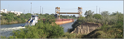 Barge traffic by USGS gage
